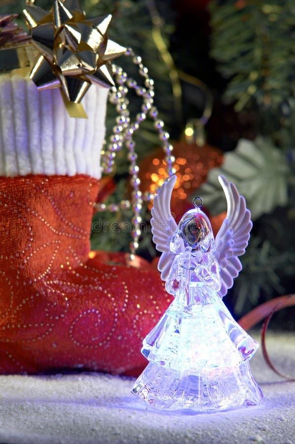τα cristmas αγγέλου παρουσιάζ&omic στοκ φωτογραφία με δικαίωμα ελεύθερης χρήσης