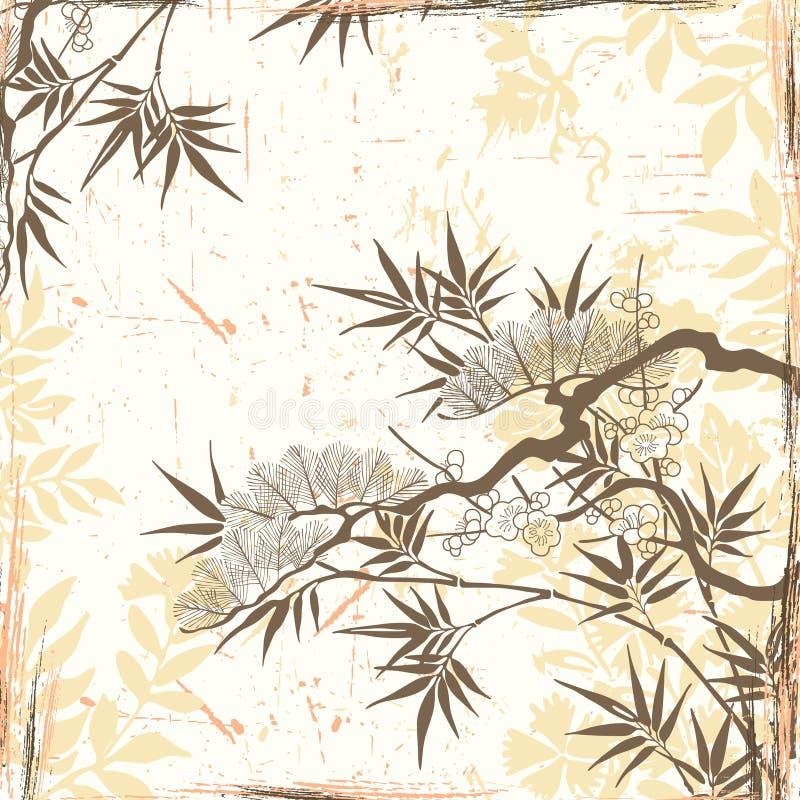 τα floral ιαπωνικά διανυσματική απεικόνιση