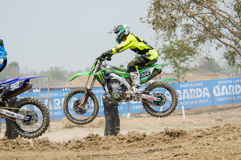 Τα Grand Prix πρωταθλήματος Wolrd μοτοκρός FIM MXGP της Ταϊλάνδης στοκ φωτογραφία