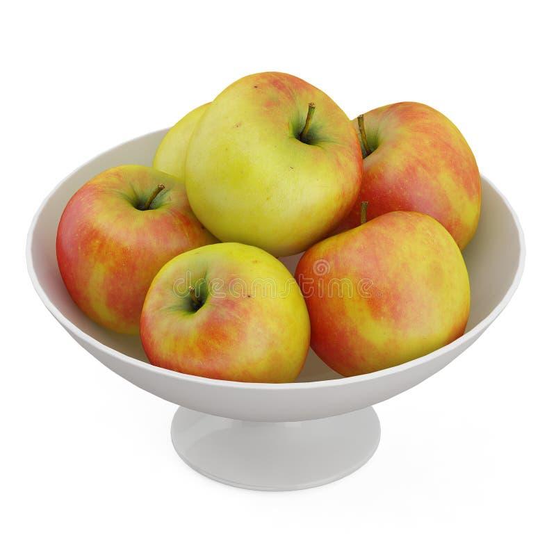 Τα Isometric φρούτα τρισδιάστατα δίνουν στοκ εικόνες