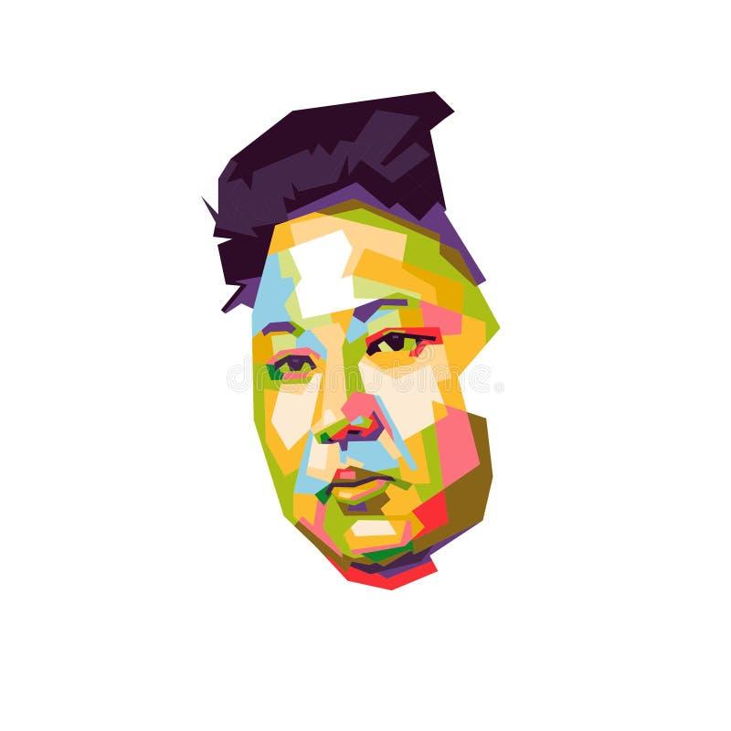 Τα jong-Η.Ε της Kim σκάουν το illustation τέχνης διανυσματική απεικόνιση