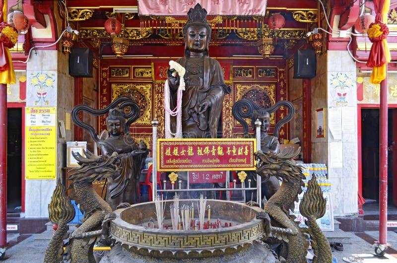 Τεθειμένος ναός σαγονιών στην παλαιά πόλη Phuket στοκ φωτογραφίες με δικαίωμα ελεύθερης χρήσης