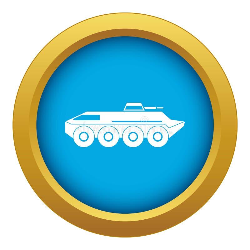 Τεθωρακισμένων οχημάτων μεταφοράς προσωπικού εικονιδίων διάνυσμα που απομονώνεται μπλε ελεύθερη απεικόνιση δικαιώματος
