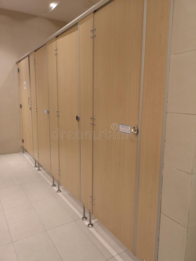 Τελειωμένος τοίχος σχεδίων τουαλετών ξύλινος φυλλόμορφος στοκ εικόνες