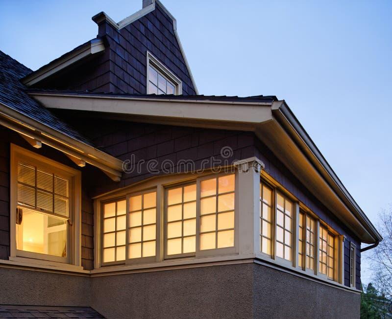 Τελευταίοι όροφοι ενός σπιτιού στοκ εικόνα