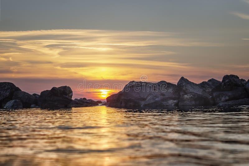 τελευταίος ήλιος ακτίν&o στοκ εικόνα