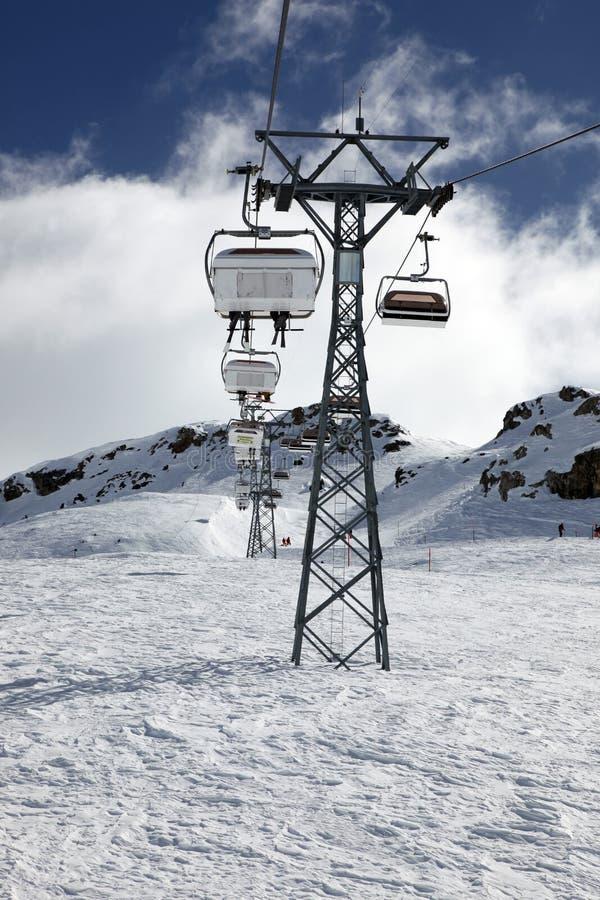 τελεφερίκ Ελβετός ορών στοκ φωτογραφίες με δικαίωμα ελεύθερης χρήσης