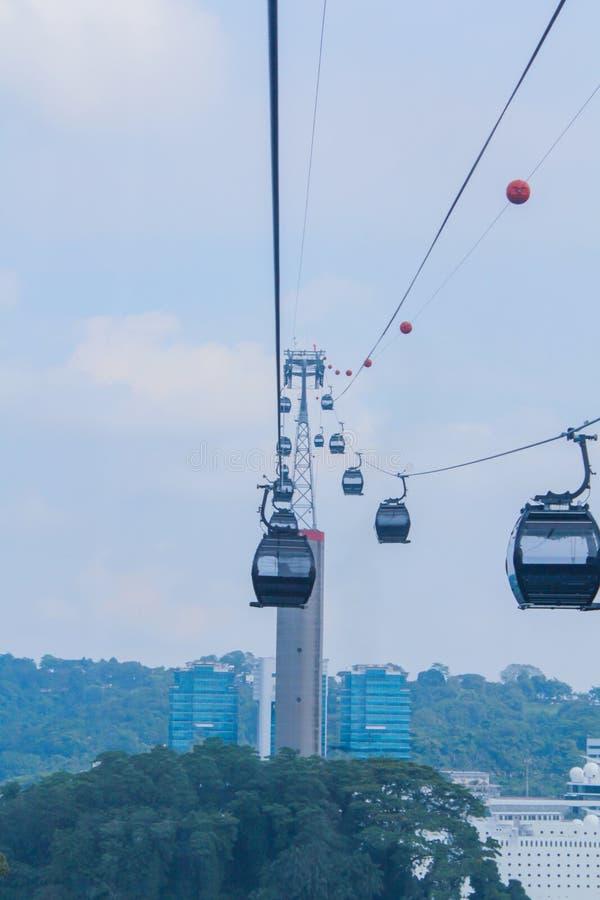 τελεφερίκ Σινγκαπούρη στοκ φωτογραφία