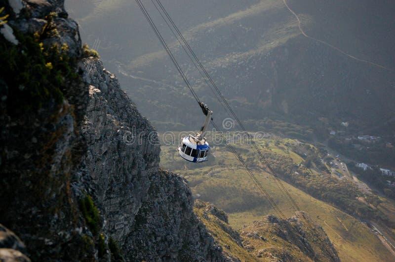 Τελεφερίκ στο πάρκο επιτραπέζιων βουνών στο Καίηπ Τάουν, Νότια Αφρική στοκ εικόνες με δικαίωμα ελεύθερης χρήσης