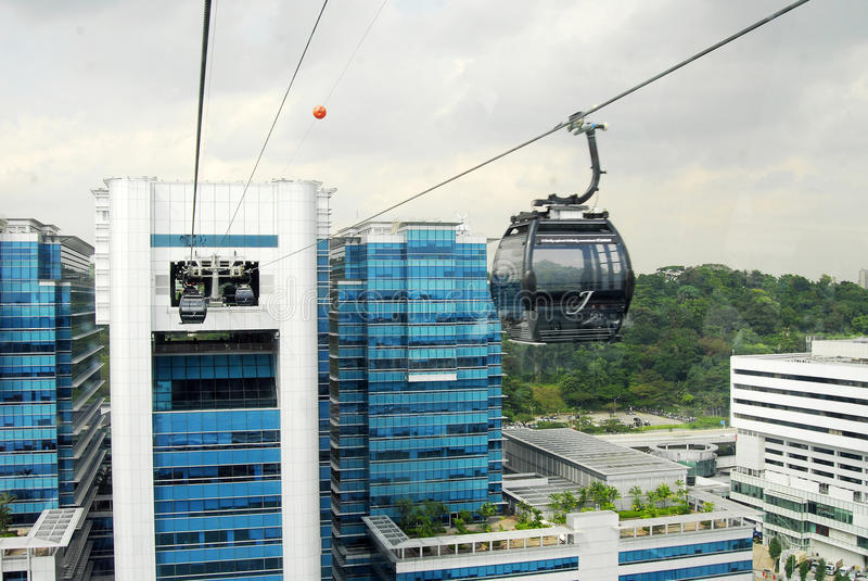 Τελεφερίκ της Σιγκαπούρης στοκ εικόνες