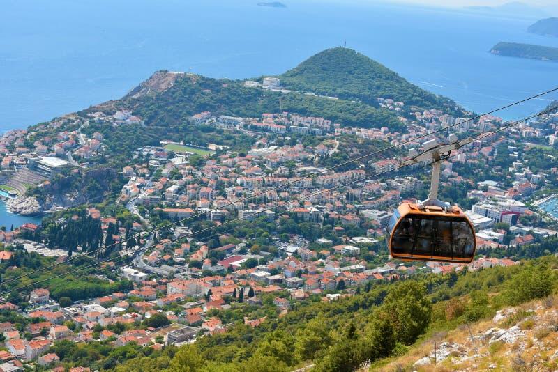 Τελεφερίκ Dubrovnik στοκ εικόνα με δικαίωμα ελεύθερης χρήσης