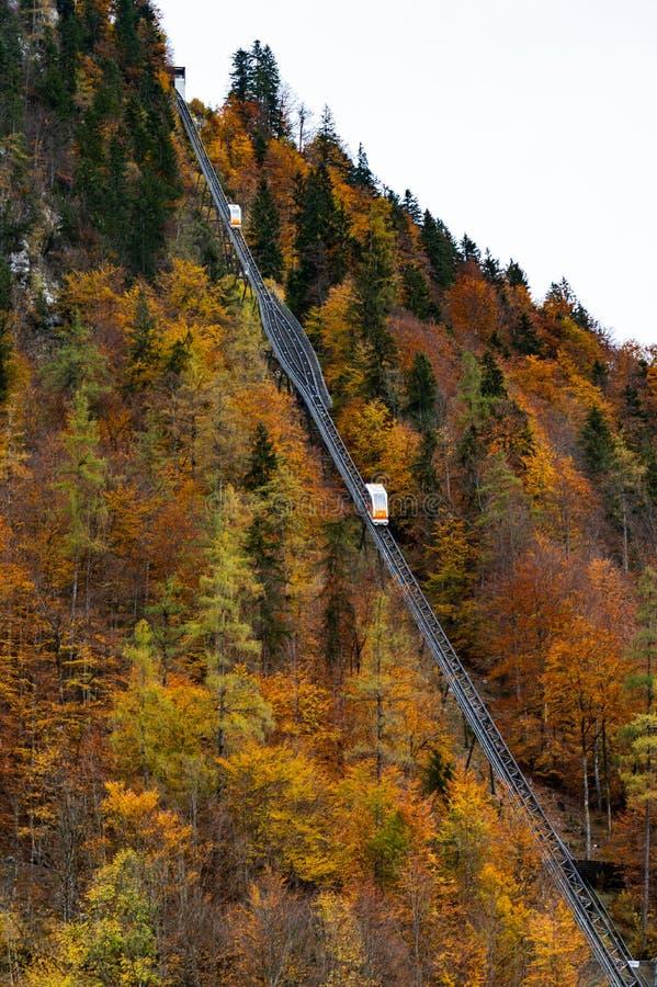 Τελεφερίκ Hallstatt, Άνω Αυστρία στοκ εικόνες με δικαίωμα ελεύθερης χρήσης