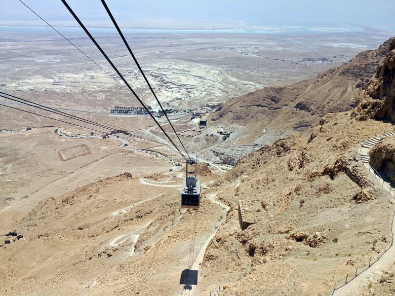 Τελεφερίκ Masada στοκ φωτογραφία με δικαίωμα ελεύθερης χρήσης