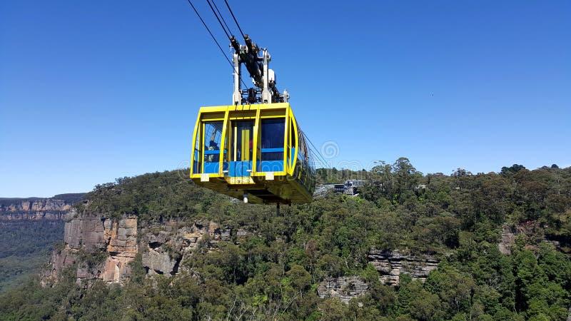 Τελεφερίκ Skyway σε Katoomba - μπλε εθνικό πάρκο βουνών, Αυστραλία στοκ εικόνες με δικαίωμα ελεύθερης χρήσης