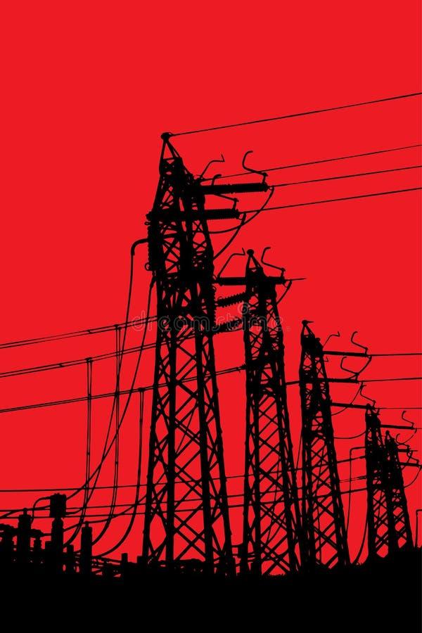 Τελικοί πύργοι ρευματοδοτών ελεύθερη απεικόνιση δικαιώματος