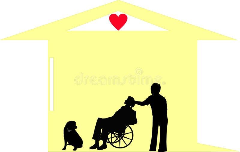 τελικό σπίτι αξιοπρέπεια&sigma ελεύθερη απεικόνιση δικαιώματος