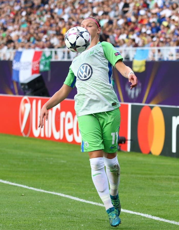 Τελικό 2018 Wolfsburg β του Champions League των γυναικών UEFA Λυών στοκ εικόνα με δικαίωμα ελεύθερης χρήσης