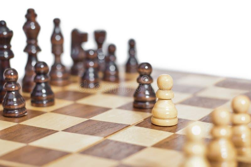 Τεμάχιο ενός πίνακα σκακιού στοκ φωτογραφίες