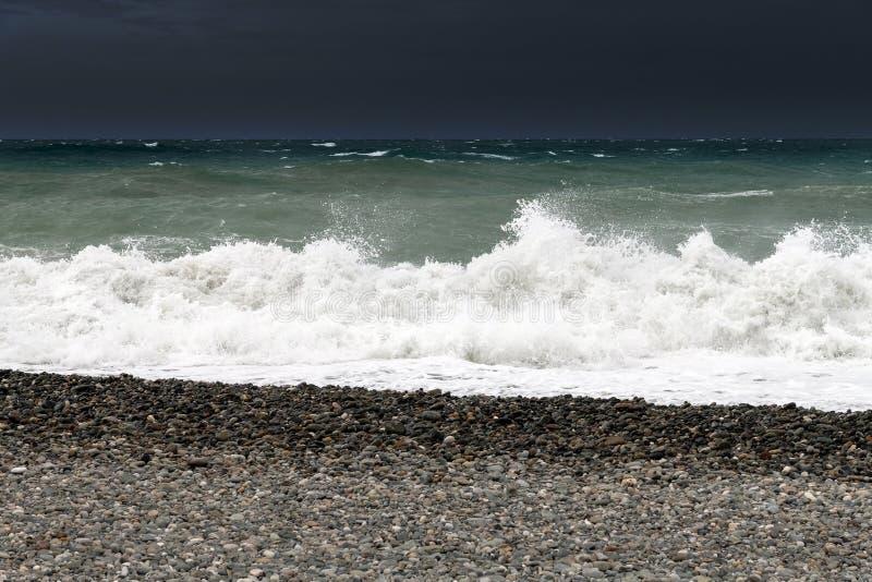 Τεμάχιο Μαύρης Θάλασσας κατά τη διάρκεια της θύελλας στοκ φωτογραφίες με δικαίωμα ελεύθερης χρήσης
