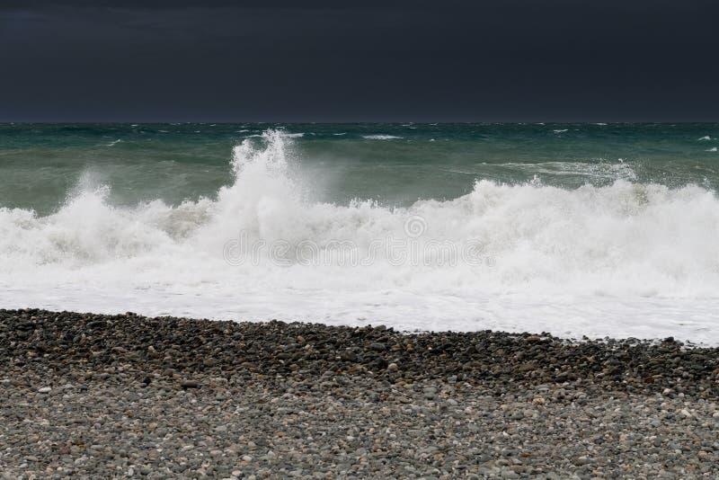 Τεμάχιο Μαύρης Θάλασσας κατά τη διάρκεια της θύελλας στοκ εικόνα με δικαίωμα ελεύθερης χρήσης