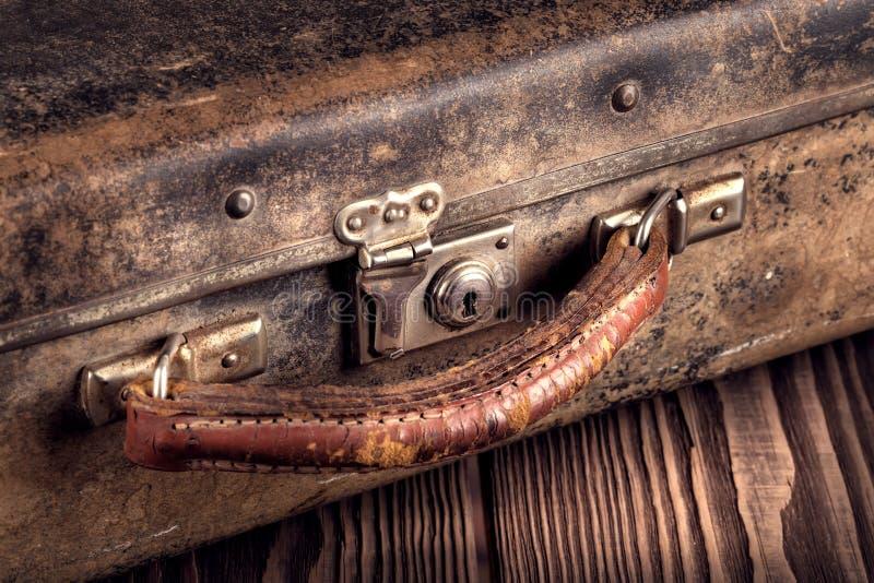 Τεμάχιο μιας παλαιάς βαλίτσας στοκ εικόνες