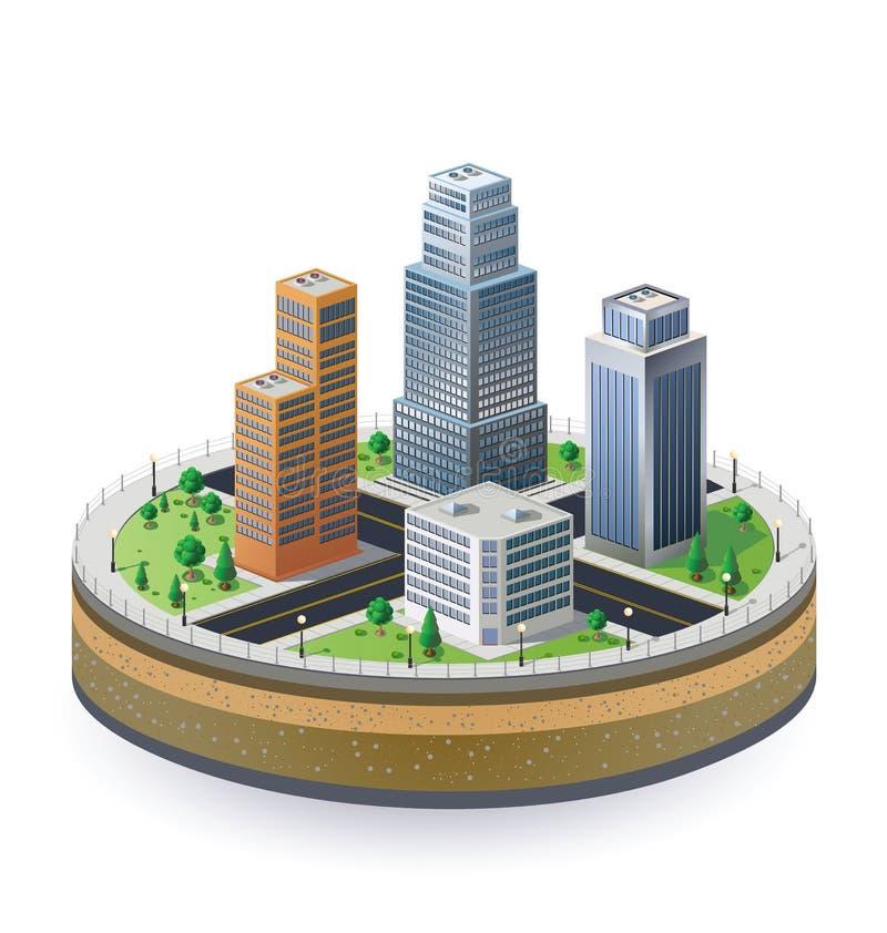 τεμάχιο πόλεων απεικόνιση αποθεμάτων