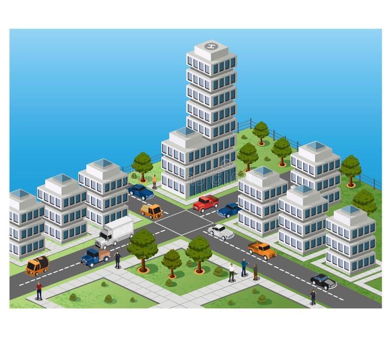 τεμάχιο πόλεων ελεύθερη απεικόνιση δικαιώματος