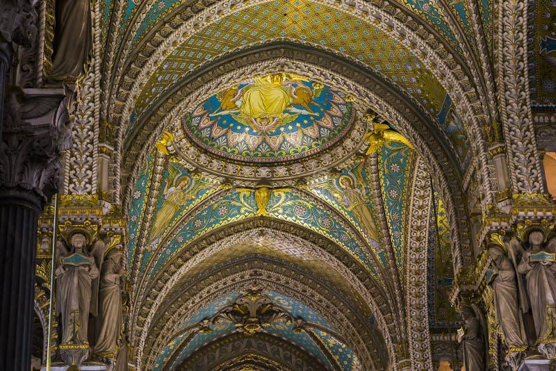 Τεμάχιο της λήξης της βασιλικής της Notre Dame de Fourviere στοκ εικόνες με δικαίωμα ελεύθερης χρήσης