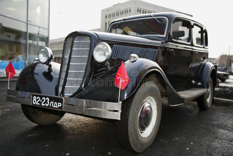 Τεμάχιο του αναδρομικού παλαιού αυτοκινήτου Βόλγας GAZ - Α - οι πρώτες εγκαταστάσεις επιβατικών αυτοκινήτων - ΕΣΣΔ 1930 στοκ φωτογραφίες