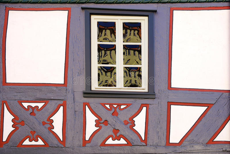Τεμάχιο του παλαιού σπιτιού Fachwerk. Στοκ Φωτογραφία