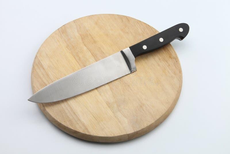 τεμαχίζοντας μαχαίρι χαρτ& στοκ εικόνες