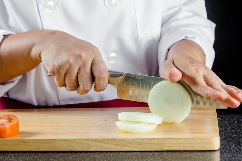 Τεμαχισμένα κρεμμύδια στοκ φωτογραφίες
