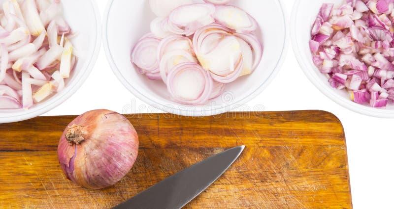 Τεμαχισμένα κρεμμύδια VI στοκ φωτογραφίες
