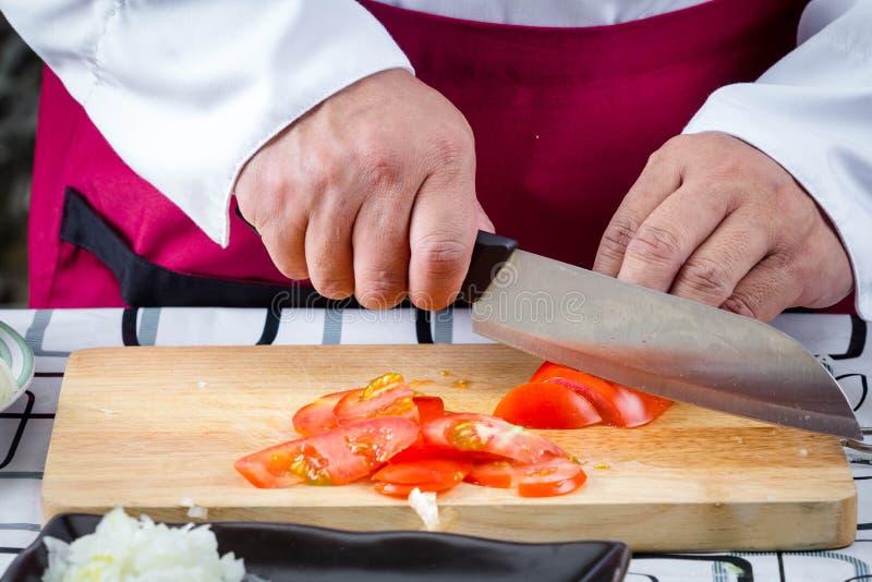 Τεμαχισμένη αρχιμάγειρας ντομάτα στοκ εικόνες