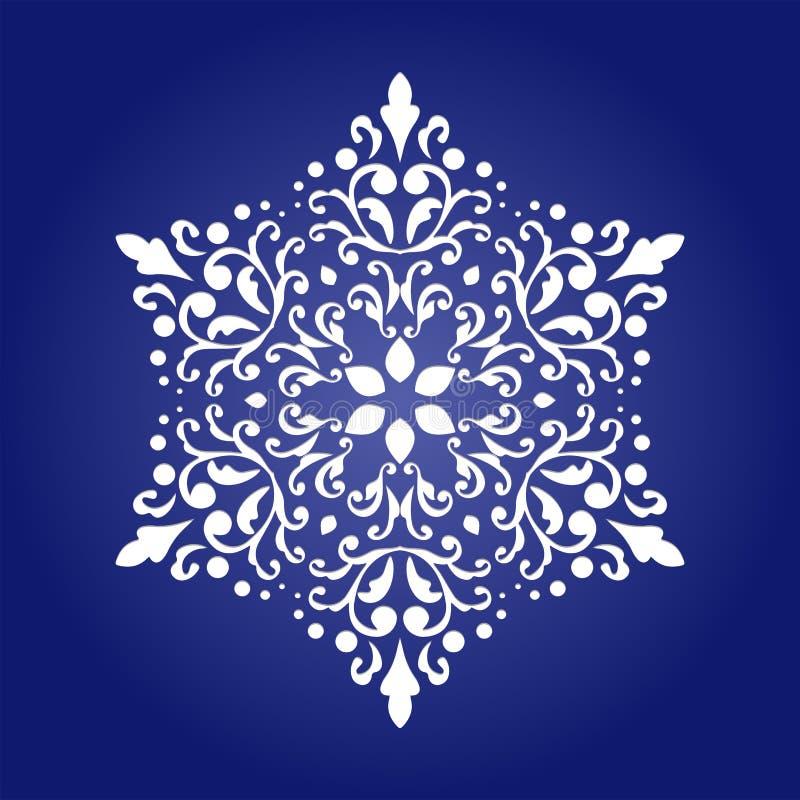 Τεμαχισμένη κάρτα εγγράφου με τη διακόσμηση mandala διακοπής ελεύθερη απεικόνιση δικαιώματος