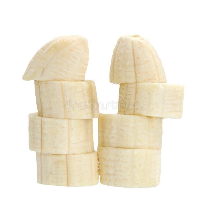Τεμαχισμένη μπανάνα στοκ εικόνες