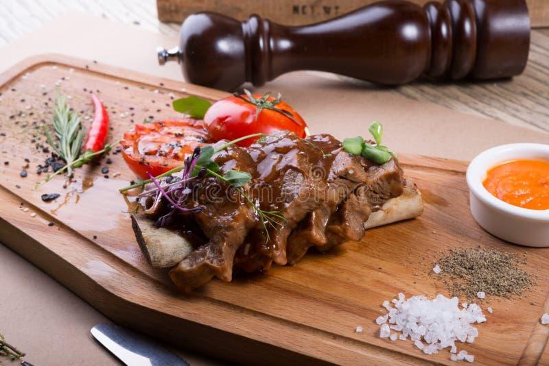 Τεμαχισμένη μπριζόλα βόειου κρέατος στοκ φωτογραφίες με δικαίωμα ελεύθερης χρήσης