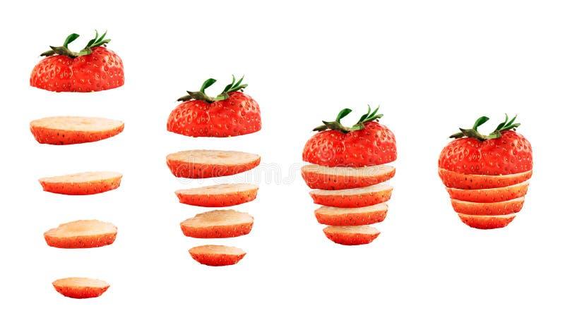 Τεμαχισμένη φράουλα που απομονώνεται στοκ φωτογραφία με δικαίωμα ελεύθερης χρήσης