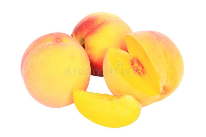 τεμαχισμένη φρούτα συλλογή ροδάκινων στοκ εικόνα με δικαίωμα ελεύθερης χρήσης