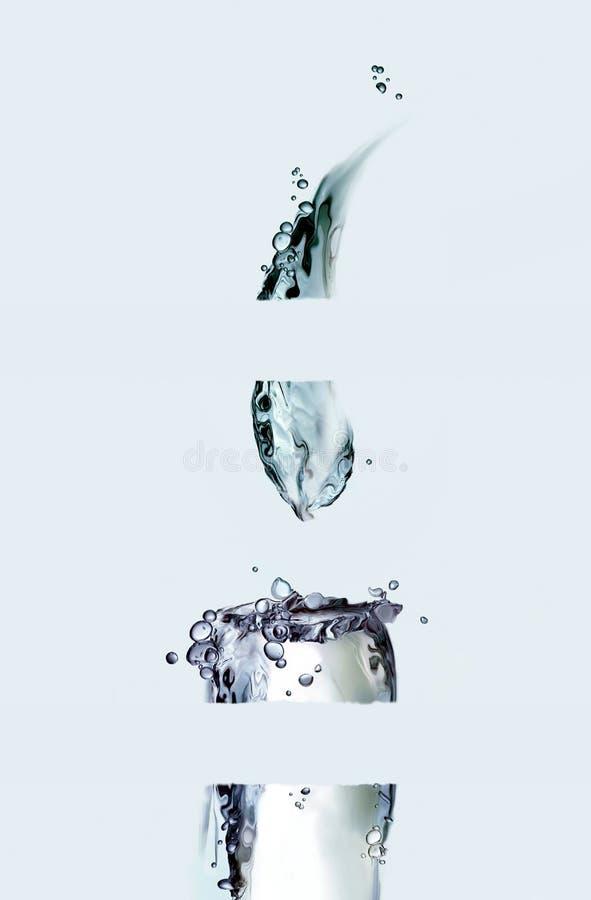 Τεμαχισμένο κερί νερού στοκ φωτογραφίες με δικαίωμα ελεύθερης χρήσης