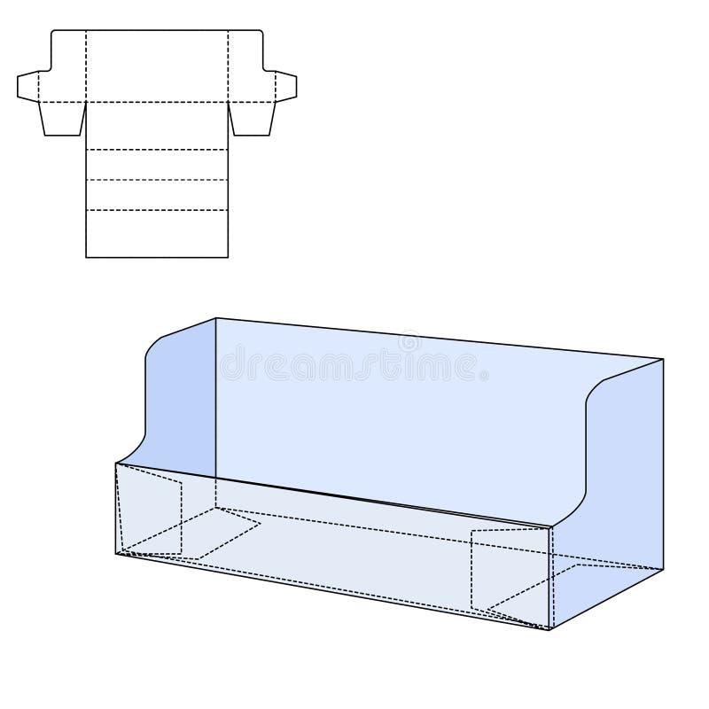 Τεμαχισμένο κιβώτιο τεχνών απεικόνιση αποθεμάτων