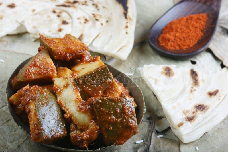 Τεμαχισμένο τουρσί - ένα ινδικό τουρσί στοκ εικόνα