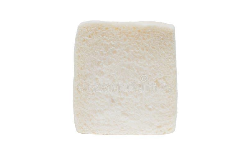 Τεμαχισμένο ψωμί, που απομονώνεται στο άσπρο υπόβαθρο στοκ εικόνες