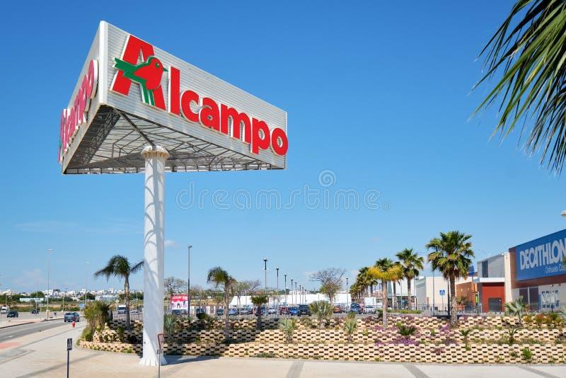 Τεράστια πινακίδα Alcampo στοκ φωτογραφία με δικαίωμα ελεύθερης χρήσης