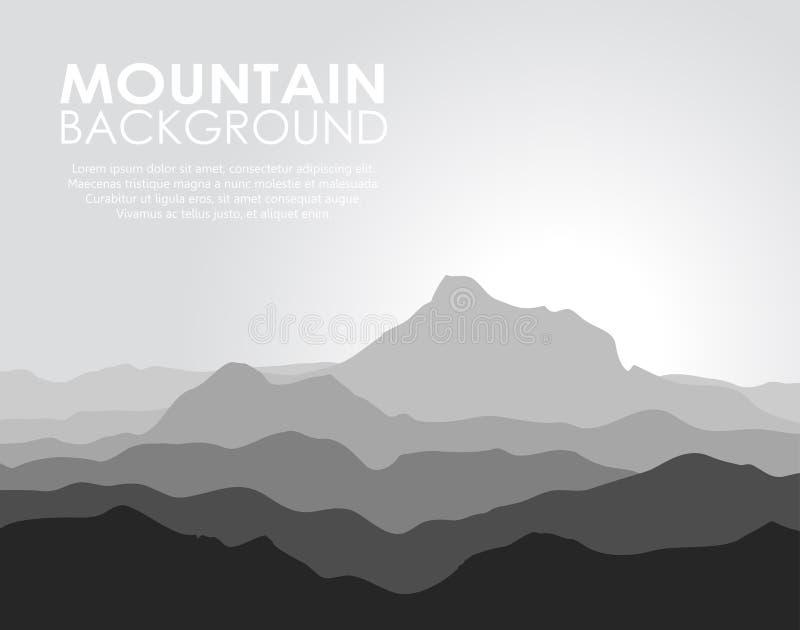 Τεράστια σειρά βουνών ελεύθερη απεικόνιση δικαιώματος