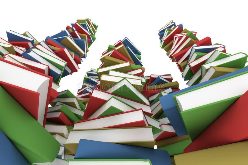τεράστια στοίβα βιβλίων απεικόνιση αποθεμάτων