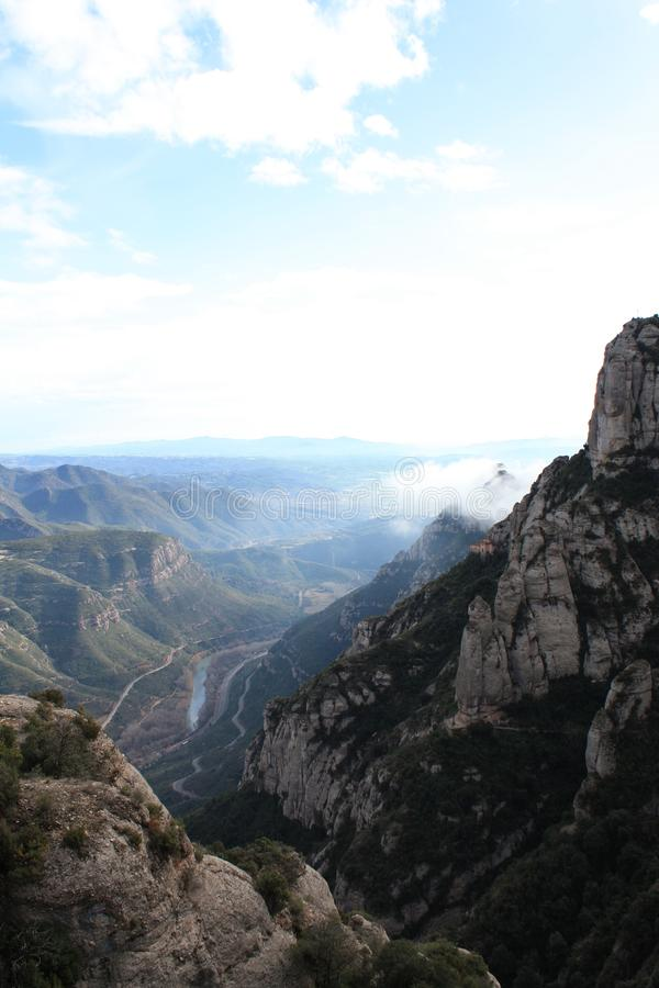 Τεράστιοι βράχοι Μοντσερράτ στοκ εικόνες