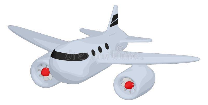 Τεράστιος - αεριωθούμενο αεροπλάνο απεικόνιση αποθεμάτων