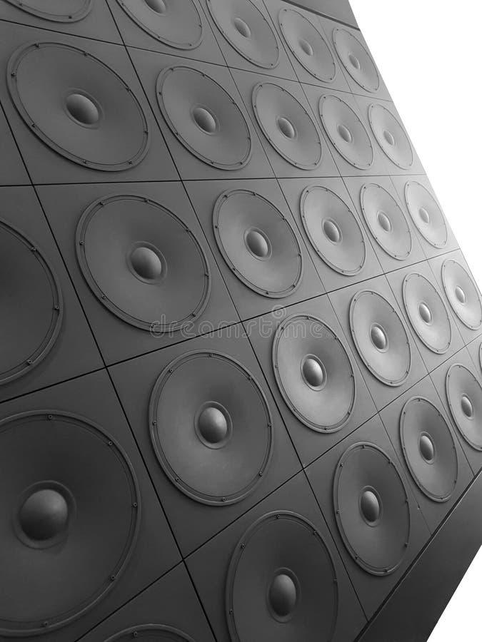 Τεράστιος μαύρος τοίχος της βαθιάς σύστασης ομιλητών, αφηρημένο υπόβαθρο, σύσταση, δραματικός φωτισμός στοκ εικόνες με δικαίωμα ελεύθερης χρήσης