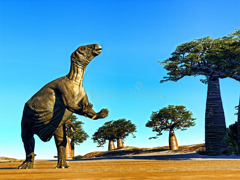 Τεράστιος προϊστορικός δεινόσαυρος στοκ φωτογραφία